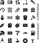 solid black flat icon set paint ... | Shutterstock .eps vector #1198443064