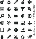 solid black flat icon set truck ... | Shutterstock .eps vector #1198443091