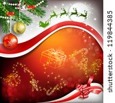 christmas decoration with... | Shutterstock .eps vector #119844385