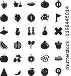 solid black flat icon set cross ... | Shutterstock .eps vector #1198445014