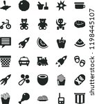 solid black flat icon set image ... | Shutterstock .eps vector #1198445107