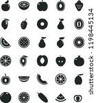 solid black flat icon set... | Shutterstock .eps vector #1198445134