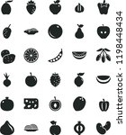 solid black flat icon set piece ... | Shutterstock .eps vector #1198448434
