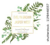 wedding floral invitation ... | Shutterstock .eps vector #1198448557