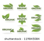 vector collection of leaf signs ... | Shutterstock .eps vector #119845084