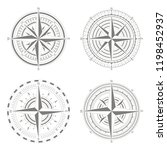 vector icons with compass rose... | Shutterstock .eps vector #1198452937