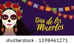 day of dead  colorful banner... | Shutterstock .eps vector #1198461271