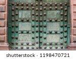 stunning green colored door of... | Shutterstock . vector #1198470721