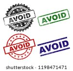 avoid seal prints with damaged... | Shutterstock .eps vector #1198471471