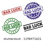 bad luck seal prints with... | Shutterstock .eps vector #1198471621