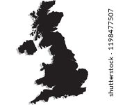 map of uk | Shutterstock .eps vector #1198477507