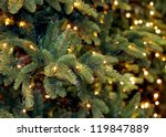 christmas lights hanging in a... | Shutterstock . vector #119847889