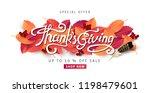 thanksgiving day banner... | Shutterstock .eps vector #1198479601