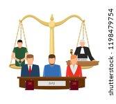 justice concept vector... | Shutterstock .eps vector #1198479754