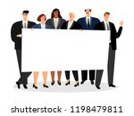 business people holding blank... | Shutterstock .eps vector #1198479811