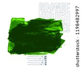 green brush stroke and texture. ...   Shutterstock .eps vector #1198482997