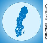 map of sweden   Shutterstock .eps vector #1198488397