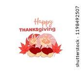 hand drawn happy thanksgiving... | Shutterstock .eps vector #1198492507