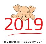 new year 2019. the year of the...   Shutterstock .eps vector #1198494337