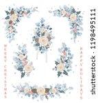 set of christmas vector florals ...   Shutterstock .eps vector #1198495111