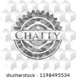 chatty retro style grey emblem... | Shutterstock .eps vector #1198495534