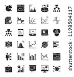 infographics glyph vector icons