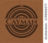 cayman badge with wood...   Shutterstock .eps vector #1198506577