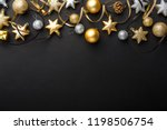 beautiful christmas golden... | Shutterstock . vector #1198506754