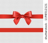 red bow isolated transparent... | Shutterstock .eps vector #1198512121