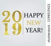 new year card with gradient... | Shutterstock .eps vector #1198515421