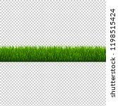 green grass border isolated... | Shutterstock .eps vector #1198515424