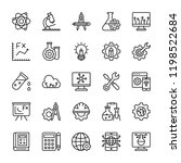 science line vector icons  | Shutterstock .eps vector #1198522684