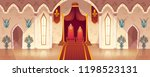 vector throne room in medieval... | Shutterstock .eps vector #1198523131