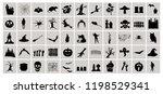 happy halloween graphic set.... | Shutterstock .eps vector #1198529341