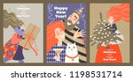 set of cards for christmas and... | Shutterstock .eps vector #1198531714