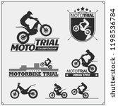 set of motorsport silhouettes ... | Shutterstock .eps vector #1198536784