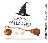 scary and magic halloween... | Shutterstock .eps vector #1198548637