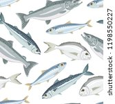 fish seamless pattern on white...   Shutterstock .eps vector #1198550227