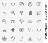 balls line icon set with rugby... | Shutterstock .eps vector #1198551904