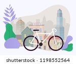 city bike hire rental tours for ... | Shutterstock .eps vector #1198552564