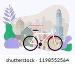 city bike hire rental tours for ... | Shutterstock .eps vector #1198552564