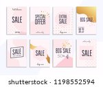 set media banners with discount ... | Shutterstock .eps vector #1198552594