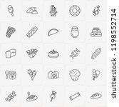 bakery line icon set with... | Shutterstock .eps vector #1198552714