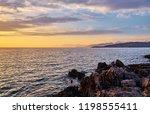 beautiful landscape. sunset...   Shutterstock . vector #1198555411
