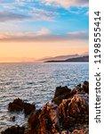 beautiful landscape. sunset...   Shutterstock . vector #1198555414