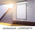 mock up poster media template... | Shutterstock . vector #1198556974