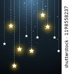 star mobile hanging in starry...   Shutterstock .eps vector #1198558237