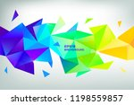 faceted 3d crystal colorful... | Shutterstock .eps vector #1198559857