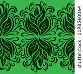 vector seamless floral pattern... | Shutterstock .eps vector #1198560064