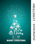 christmas and new year 2019... | Shutterstock .eps vector #1198579384